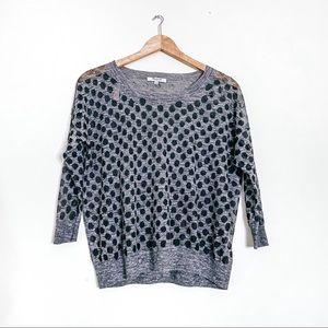 Madewell Polka Dot Knit Sweater Gray S